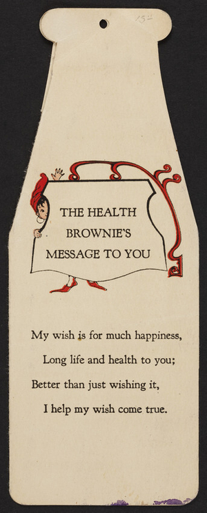 Health brownie's message to you, National Dairy Council, Chicago, Illinois, undated