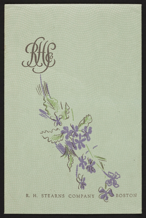 Envelope for the R.H. Stearns Company, Boston, Mass., undated