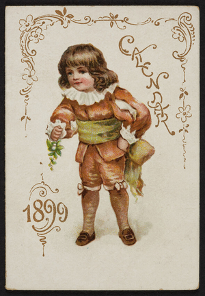 Trade card for A.A. Coburn, dry goods and small wares, 222 Main Street, Milford, Mass., 1899