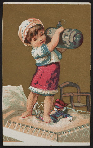 Trade card for Forbes Wight & Co., dry and fancy goods and millinery, 48 & 50 Winter Street, Boston, Mass., ca. 1889