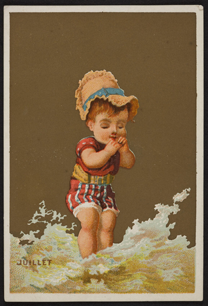 Trade card for R. & J. Gilchrist, dry goods, Nos. 5 & 7 Winter Street, Boston, Mass., undated