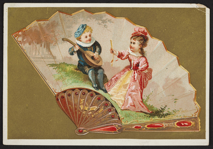 Trade card for Hogg, Brown & Taylor, dry goods, 477 to 481 Washington Street, Boston, Mass., ca. 1880