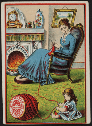 Trade card for Eureka Knitting Silk, location unknown, undated