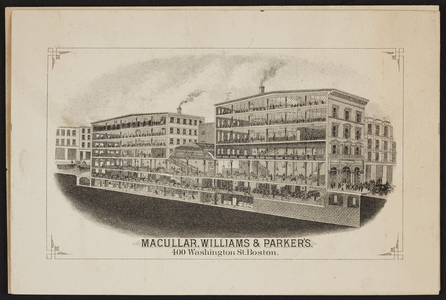 Macullar, Williams & Parker's, clothing store, 400 Washington Street, Boston, Mass., undated
