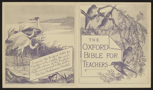 Oxford Bible for teachers, Oxford University Press Warehouse,7 Paternoster Row, London, England, undated