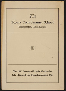 Mount Tom Summer School, Easthampton, Mass., 1937