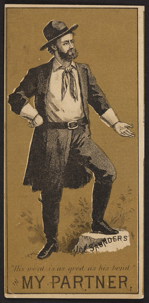 Trade card for My partner, drama, location unknown, undated