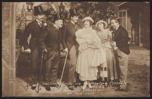 Postcard for The girl who smiles, musical comedy, Colonial Theatre, Boston, Mass., undated