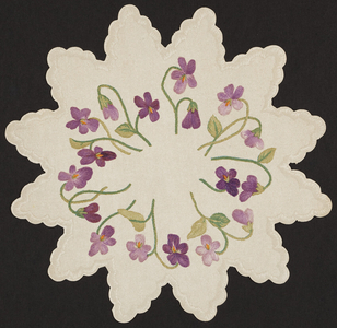 S.S. Pierce Co., paper doilies for table decorations, location unknown, undated