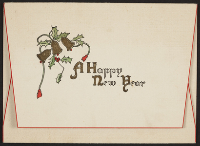 Happy New Year greeting card, location unknown, undated