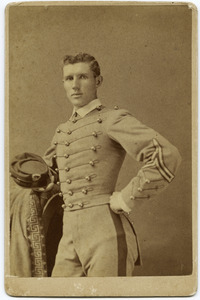 Three quarter-length studio portrait of Walter M. Dickinson in West Point cadet's uniform