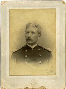 Studio portrait, bust, of Walter M. Dickinson in army uniform