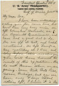 Letter from Walter M. Dickinson to Asa Williams Dickinson
