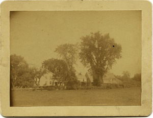 Asa's old farm home in Amherst, Mass., before any improvements