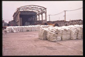 Chiting Co. fertilizer factory: sacks (fertilizer?)