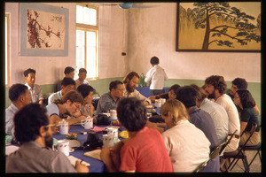 Chiting Co. fertilizer factory or oil processing plant: lunch gathering