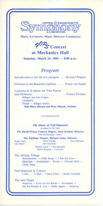 Pops concert at Mechanics Hall program