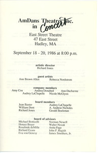 AmDans Theatre, Inc. in concert program