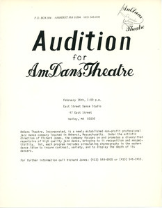Audition for AmDans Theatre