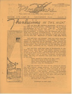 Civilian Public Service Camp Newsletter Collection, 1941-1944