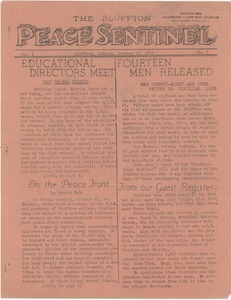 The Bluffton Peace Sentinel. vol. 1, no. 7