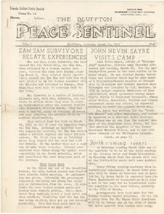 The Bluffton Peace Sentinel. vol. 1, no. 17