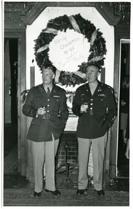 Christmas at the Office of Military Government mess: Colonels Walson and Maginnis