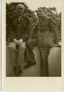 Col. John J. Maginnis (left) with Gen. Jeoffrey de Beauchesne after the award of the French Croix de Guerre