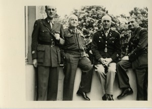 John J. Maginnis (2d from right) with French officers Chevalier, de Beauchesne, and de Sigalas