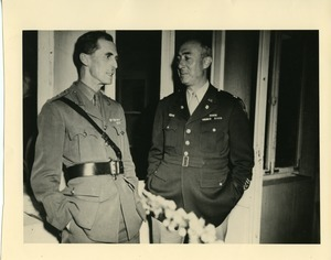 Col. Ryan (British Chief of Staff, Kommandatura for UK) and Col. John J. Maginnis (Chief of Staff, Kommandatura for USA)