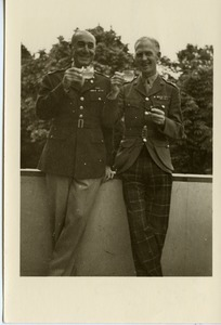 John J. Maginnis and Col. McLennan, drinking tea