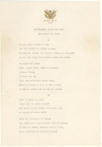 Anniversary poems for Judy