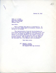 Letter from Harold L. Rotzel to G. T. Klein