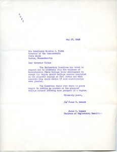 Letter from James B. Conant to Maurice J. Tobin