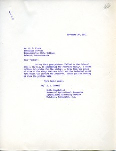 Letter from E. J. Rowell to G. T. Klein