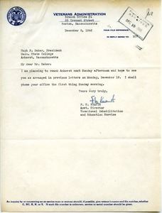 Letter from F. W. Knauth to Hugh Potter Baker