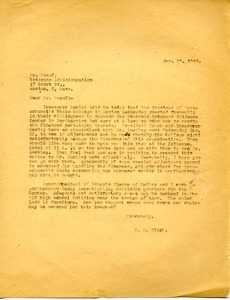 Letter from H. N. Glick to F. W. Knauth