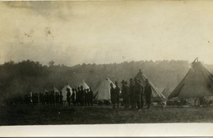 Ignacy Skarpetowski's outfit (1st Co., Coast Artillery Corps): view of encampment and tents