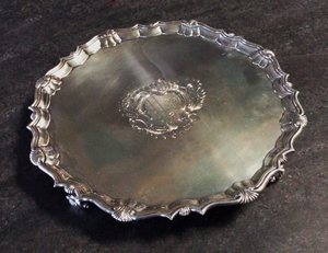 Malbone-Scott family silver salver