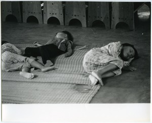 Children sleeping at day care center