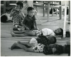 Children sleeping at the American Friends Service Day Care center