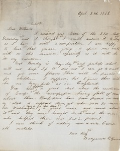 Letter from Benjamin Smith Lyman to William