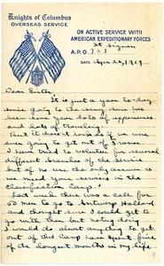 Letter from Charles E. Jackson to sister