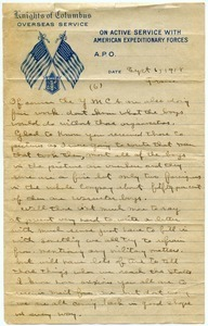 Letter from Charles E. Jackson to sister (incomplete)