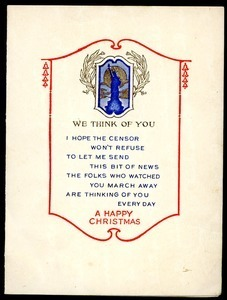 Christmas card from Helen White to Charles E. Jackson