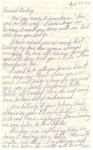 Letter from Carolyn Ann Schrum to Ronald Wayne Schrum