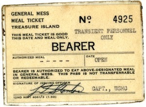 General mess meal ticket