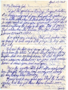 Letter from Carolyn Ann Garrett to Ronald Wayne Schrum