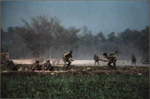 ARVN soldiers taking cover