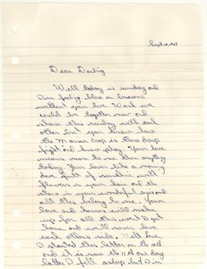 Letter from Ronald Wayne Schrum to Carolyn Ann Garrett
